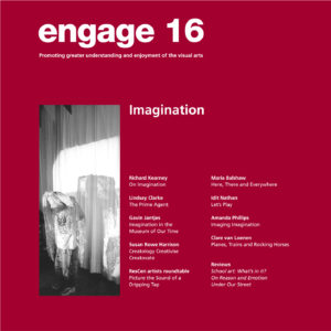 Engage journal number 16 cover. Red with white text