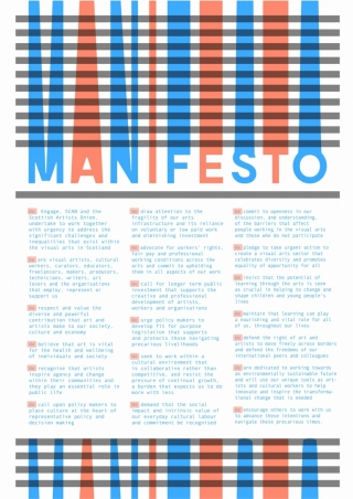 Front page of the Visual Art Manifest